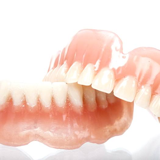 A set of full dentures prepared and ready for a patient in need